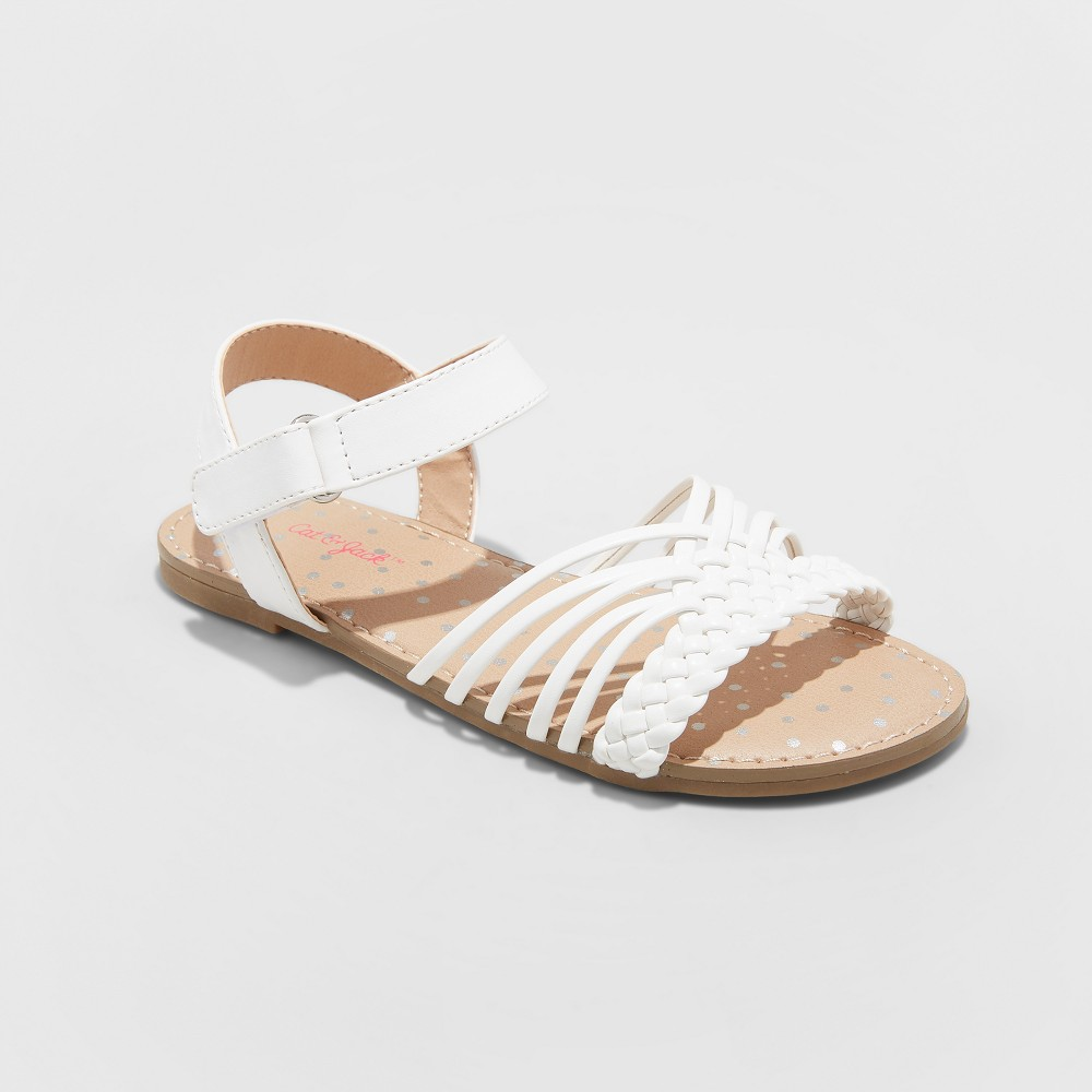 Girls' Naima Hurrache Sandals - Cat & Jack White 2