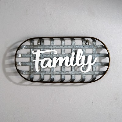 Lakeside Metal Tobacco Basket Wall Hanging Sentiment Decoration