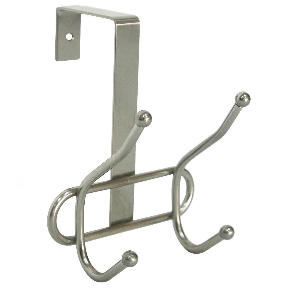 Double Over The Door Hook Satin Brushed Nickel - Room Essentials