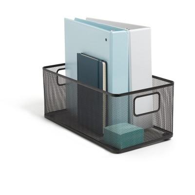TRU RED Wire Mesh Storage Box, Matte Black (TR57548) TR57548-CC