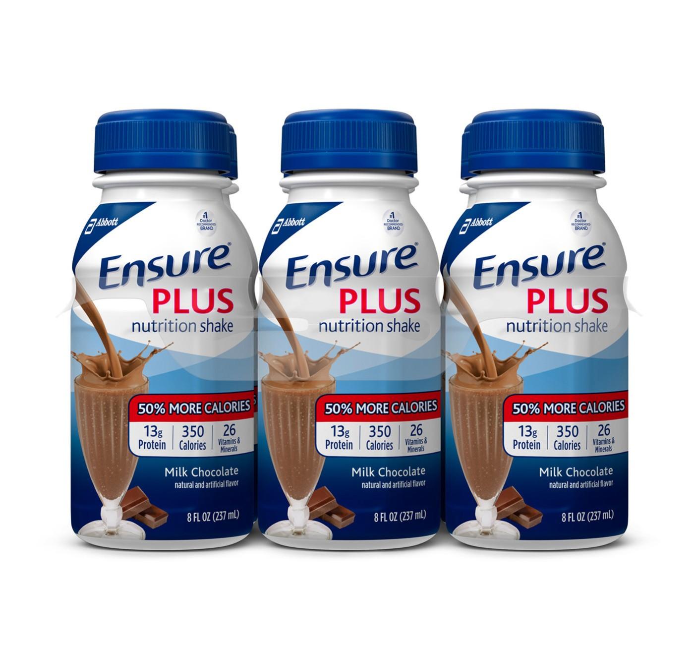 Ensure Plus Nutrition Shake - Chocolate - 8oz/6pk