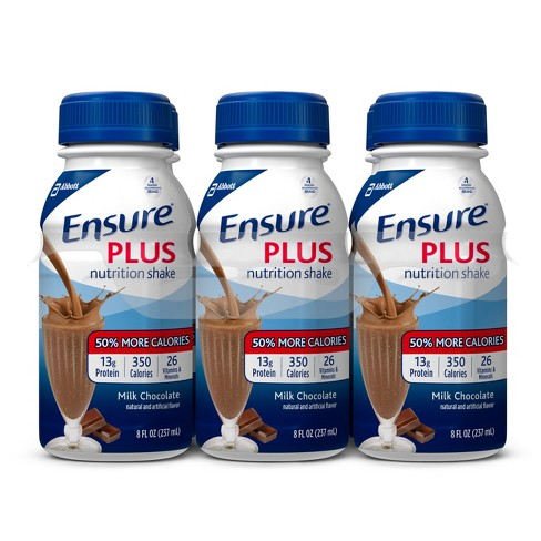 Ensure Plus Nutrition Shake - Chocolate - 6ct/48 fl oz Total - image 1 of 4