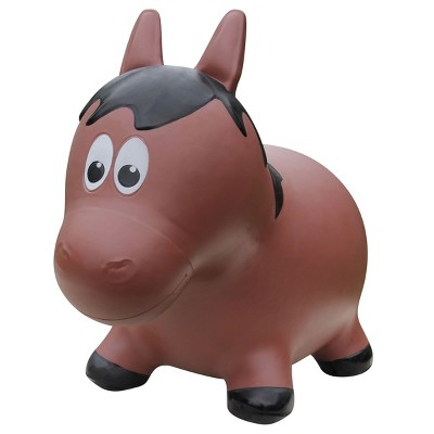 Farm Hoppers Inflatable Bouncing Brown Horse