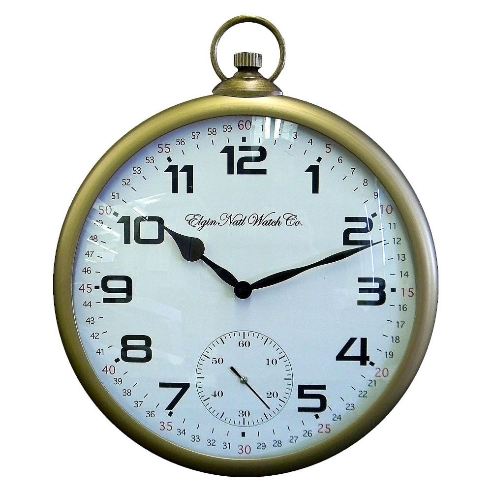 Decorative Pocket Watch Clock Brass