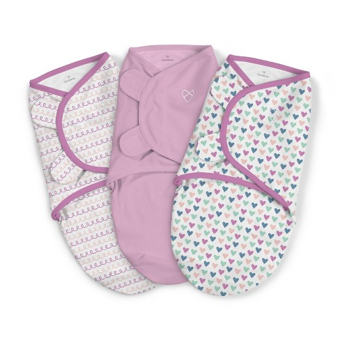 SwaddleMe Original Swaddle 0-3M - Hearts and Hoops 3pk S - image 1 of 7