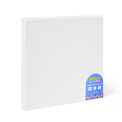 "2pk 10""x10"" Stretched Canvas White - Mondo Llama™"