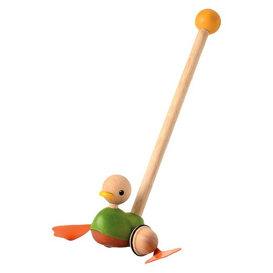PlanToys Push Along Duck, push and pull toys image number null