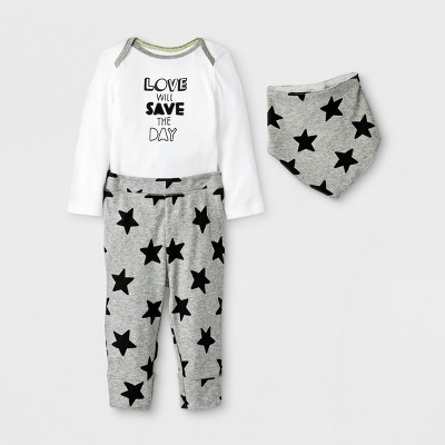 Baby Save the Day 3pc Set - Cloud Island™ White Newborn