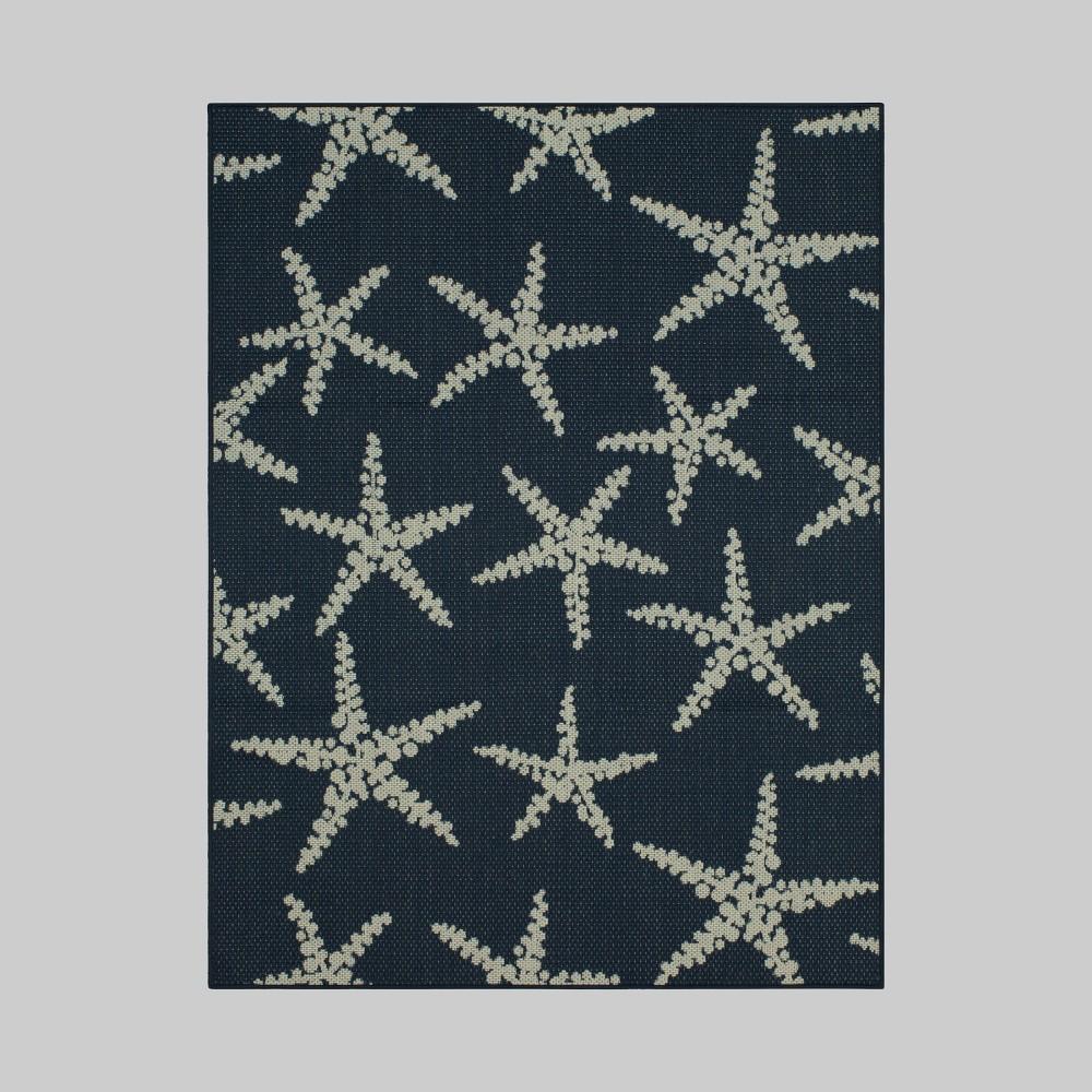 7' x 10' Starfish Outdoor Rug Navy - Threshold, Blue