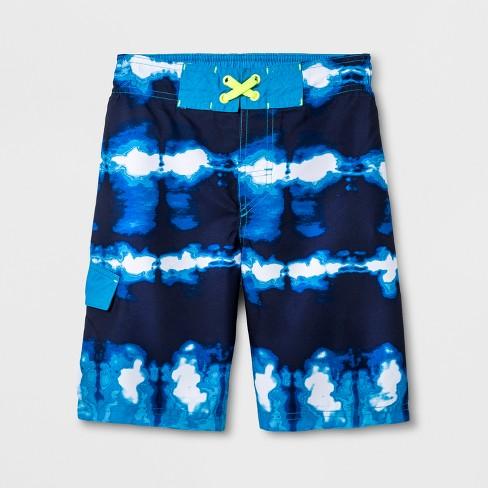daeea479cb Boys' Twist Dye Swim Trunks - Cat & Jack™ Navy M : Target
