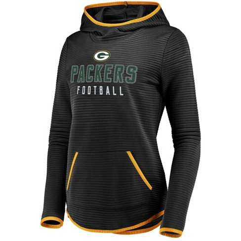 NFL Green Bay Packers Women s Linear Hood Black Scuba Neck Hoodie ... bbc21ca18