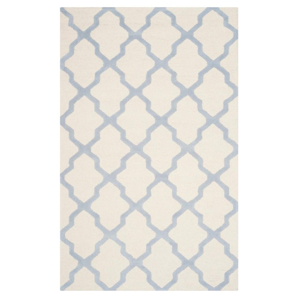 Maison Textured Rug - Ivory / Light Blue (5'X8') - Safavieh, Ivory/Light Blue