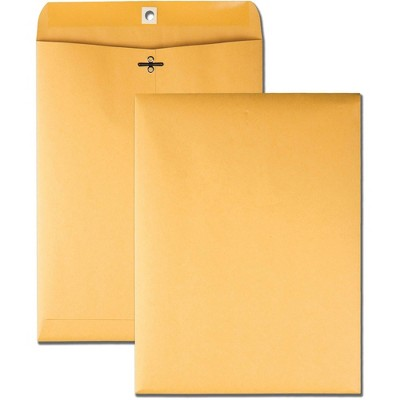 Business Source 100ct 32lbs Kraft Clasp Envelopes