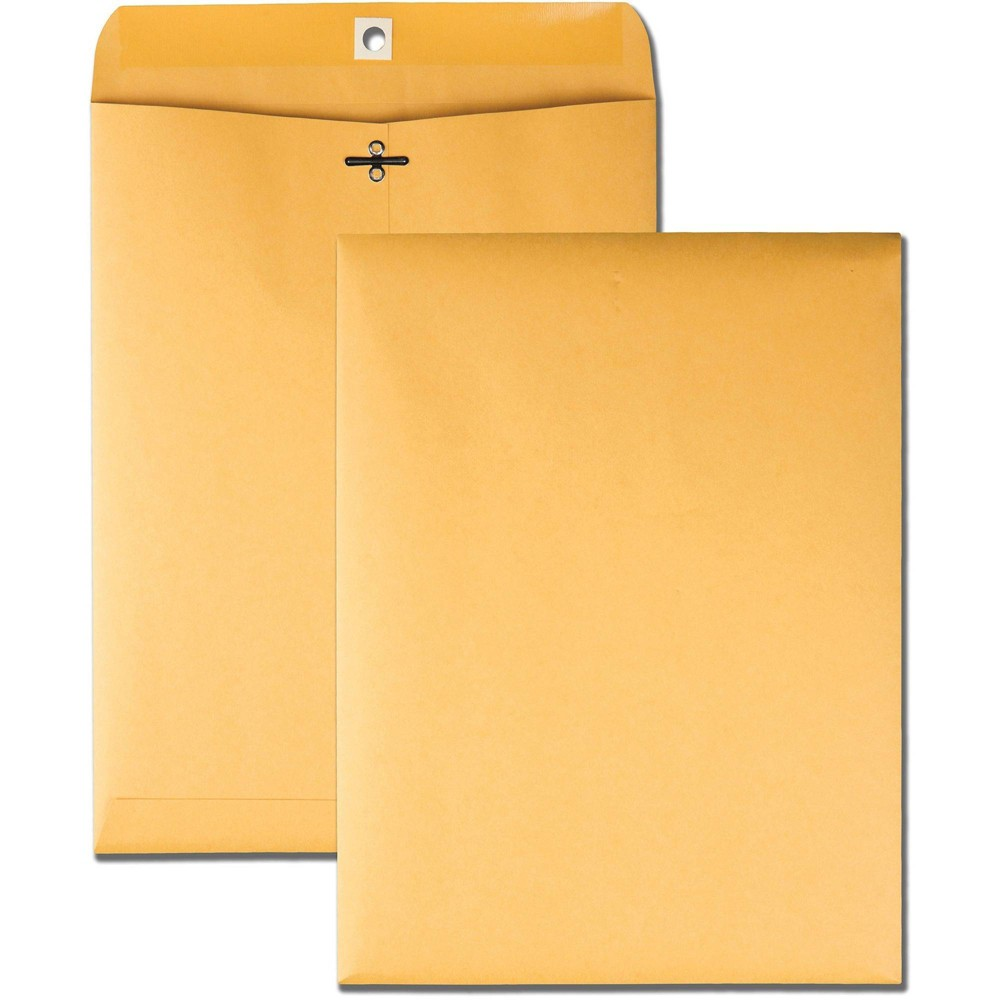 Image of Business Source 100ct 32lbs Kraft Clasp Envelopes, Brown