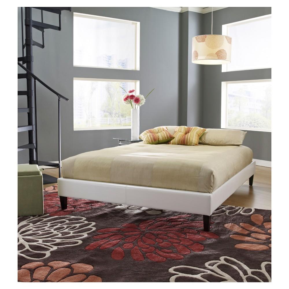 St. Paul Leather Platform Bed White (Full) - Eco Dream