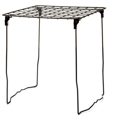 Mind Reader 12.5 Inch Freestanding Black Wire Locker Shelf
