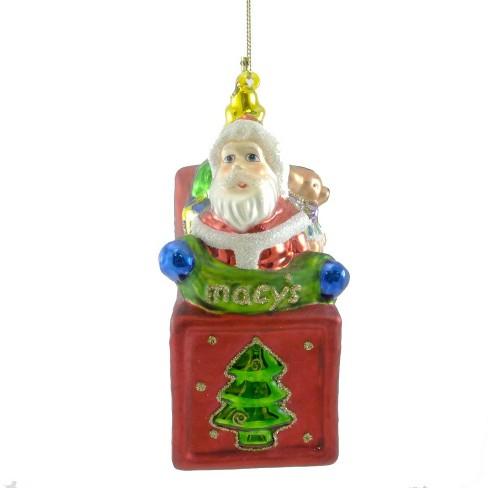 Holiday Ornament Santa In Box Macy S Christmas Teddy Bear Tree Ornaments Target