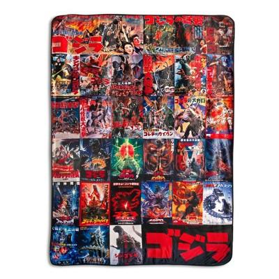 Surreal Entertainment Godzilla Movie Poster Oversized Fleece Throw Blanket | 76 x 54 Inches