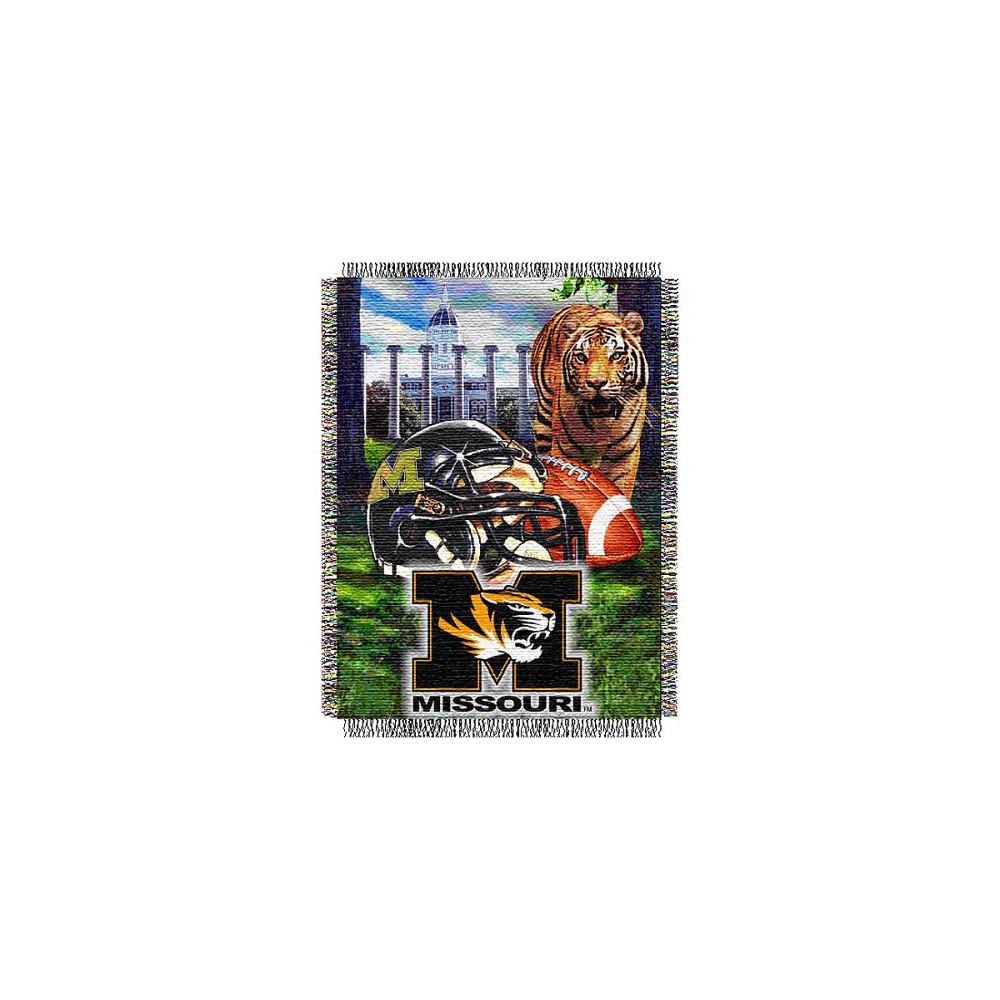 Missouri Tigers Home Field Advantage College Throw Blanket