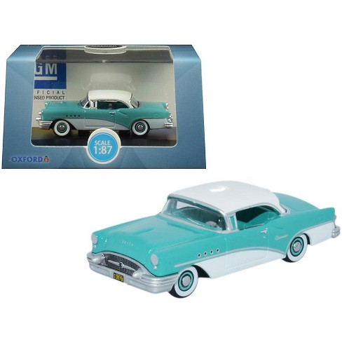 1955 Buick Century Turquoise and Polo White 1/87 (HO) Scale Diecast Model Car by Oxford Diecast - image 1 of 1