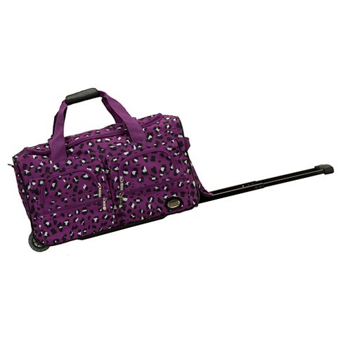 "Rockland Rolling Duffle Bag - Purple Leopard (22"") - image 1 of 1"