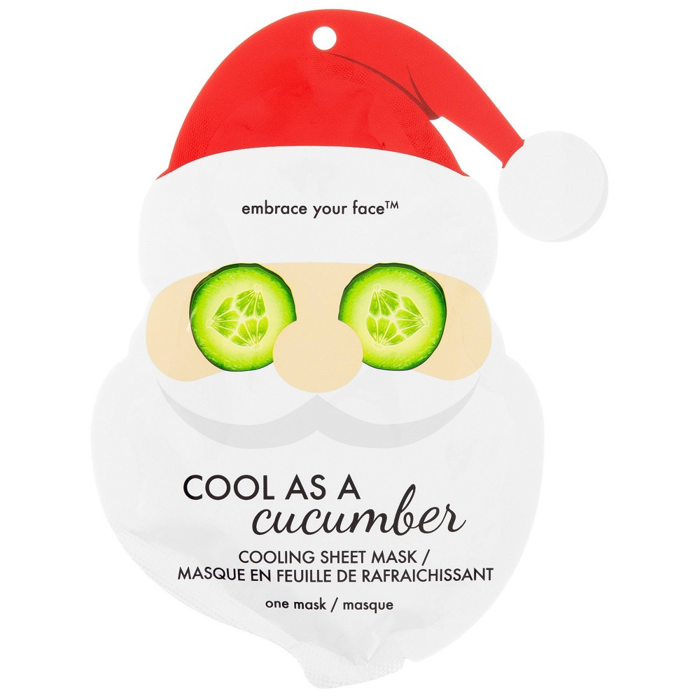 Image of Jean Pierre Cool As A Cucumber Santa Holiday Face Mask - 1ct