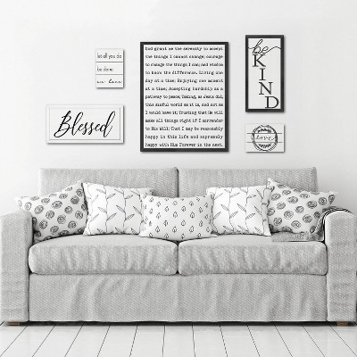 5pc Curated Gallery Wall Typography Set Black/White - New View