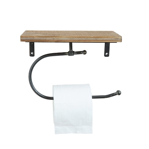 Wood & Metal Wall Toilet Paper Holder - 3R Studios - image 1 of 2