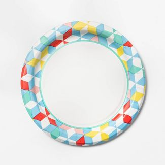 "Diamond Printed Paper Plate 6.88"" - 75ct - Up&Up™"