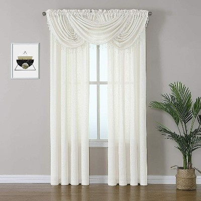 Kate Aurora Living 5 Piece Rod Pocket Sheer Window Curtains & Valances Set