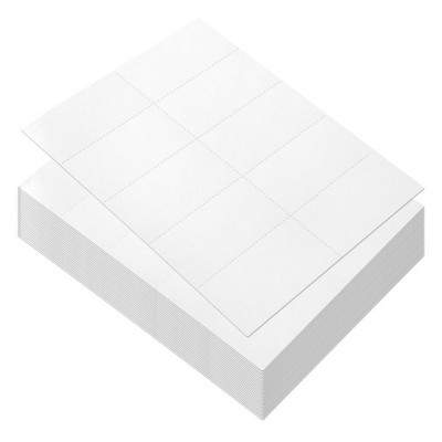 100 Sheets Blank Perforated Paper - White Card Stock for Laser Printers, 1000-4.25 x 2.2 inch Pieces Printable Perforated Paper in Total