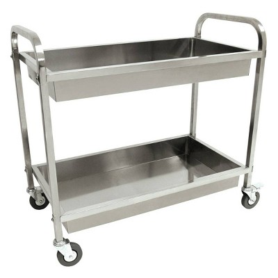 Stainless Steel Outdoor Patio Serving Cart Silver - Bayou Classic