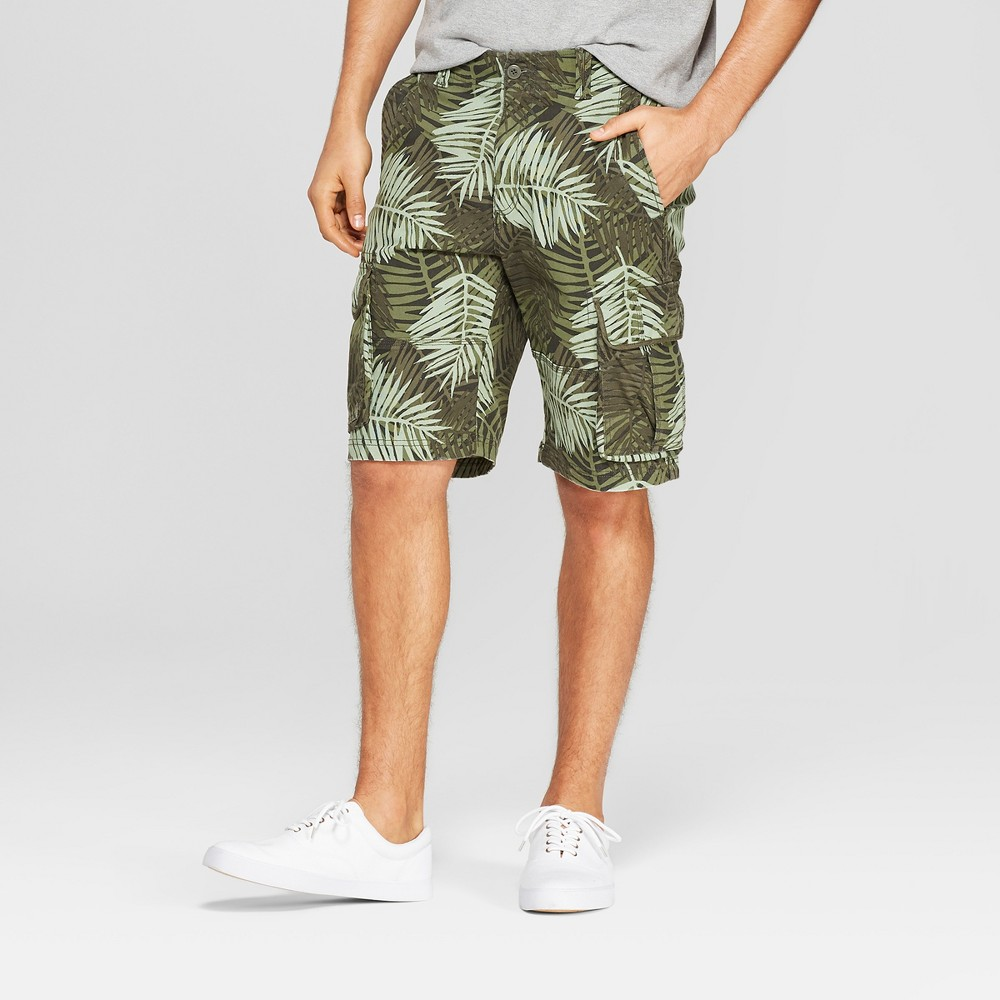 Men's 11 Cargo Shorts - Goodfellow & Co Green 28 was $24.99 now $15.0 (40.0% off)