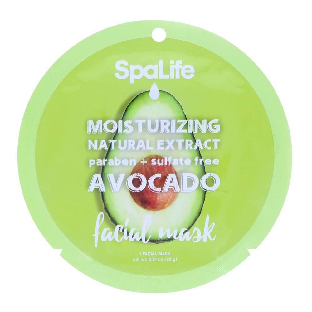 Image of SpaLife Moisturizing Face Mask Avocado - 0.81oz