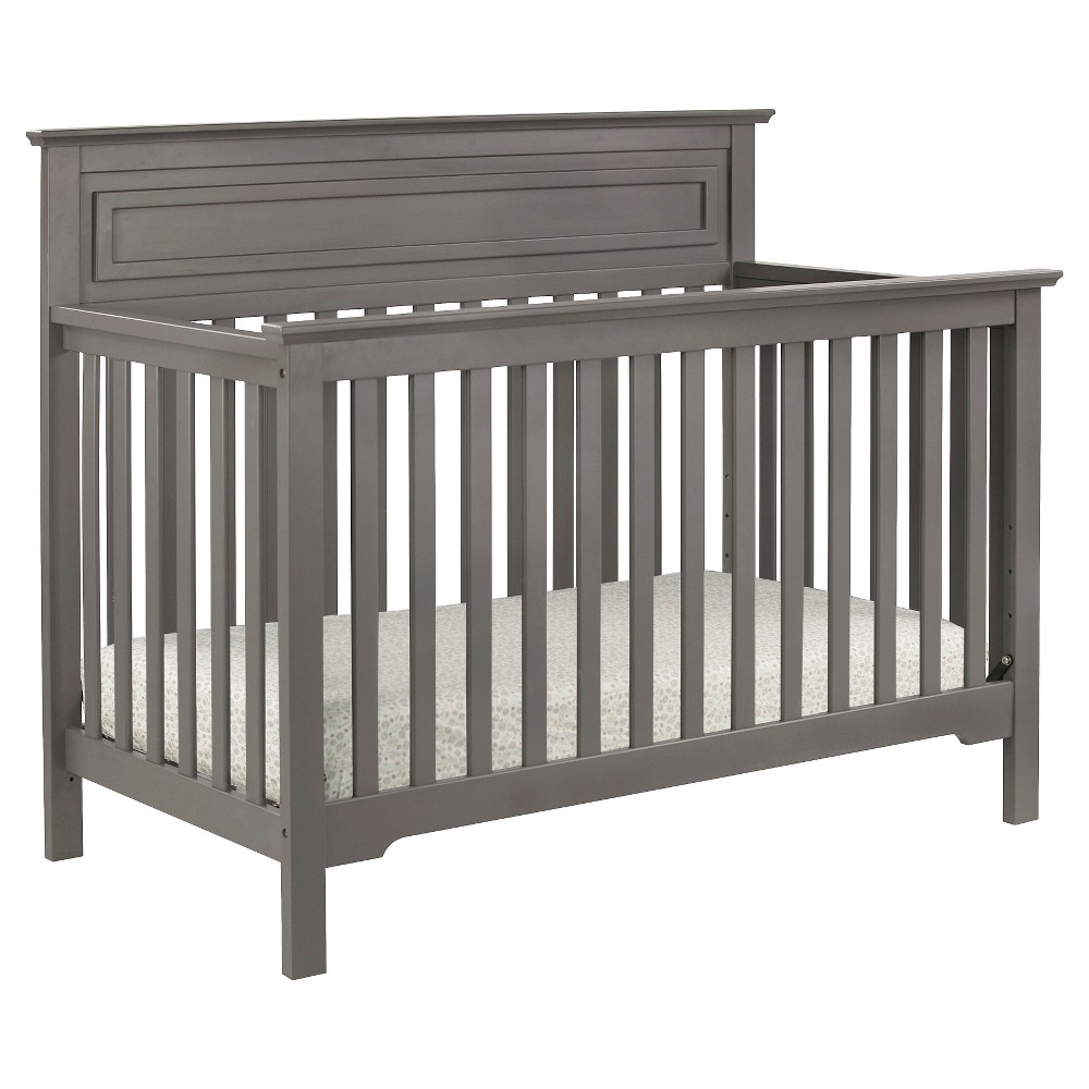 Image of DaVinci Autumn 4-in-1 Convertible Crib - Slate, Grey
