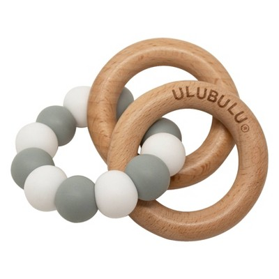Ulubulu Teething Ring 0+ Months - Gray