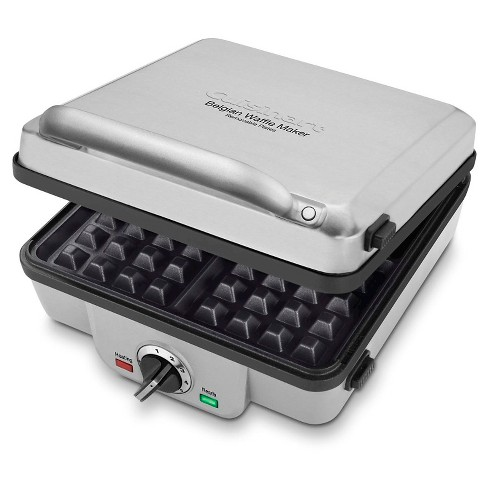 Cuisinart Breakfast Central 4-Slice Belgian Waffle Maker with Pancake Plates  - Stainless Steel - WAF-300P1 - image 1 of 4