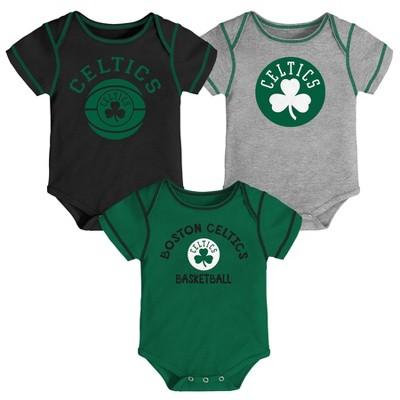 NBA Boston Celtics Baby Boys' Rookie Bodysuit Set 3pk - 3-6M