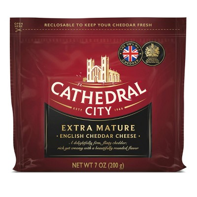Cathedral City Extra Mature White Cheddar Cheese Chunk - 7oz
