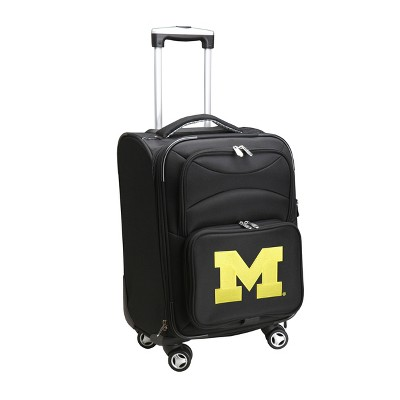 NCAA Michigan Wolverines Spinner Wheels Carry On Suitcase