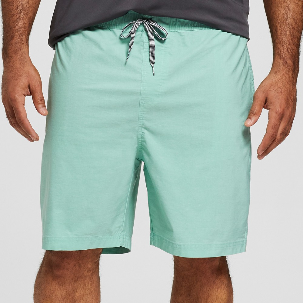 Men's Big & Tall 7.5 Wrap Elastic Waist Board Shorts - Goodfellow & Co 2XB, Green