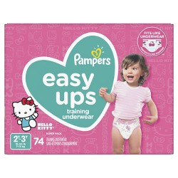 Pampers Easy Ups Girls' Trolls Training Underwear - (Select Size)
