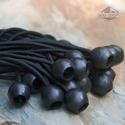 King Canopy 8'' Black Ball Bungee Straps - 50pk