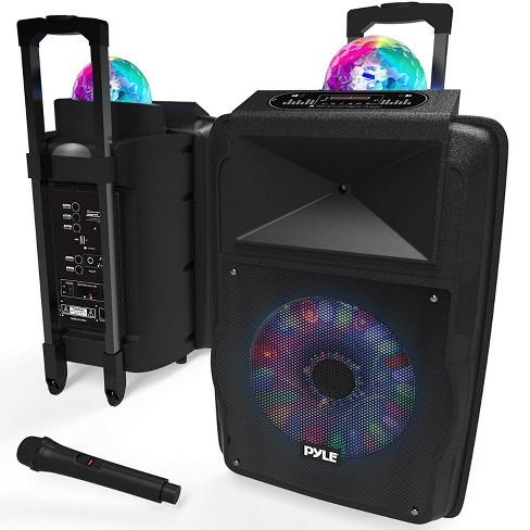 Pyle Portable 700-Watt Inside/Outside Wireless Speaker/Subwoofer DJ Karaoke Machine with Fun LED Disco Party Lights - image 1 of 4