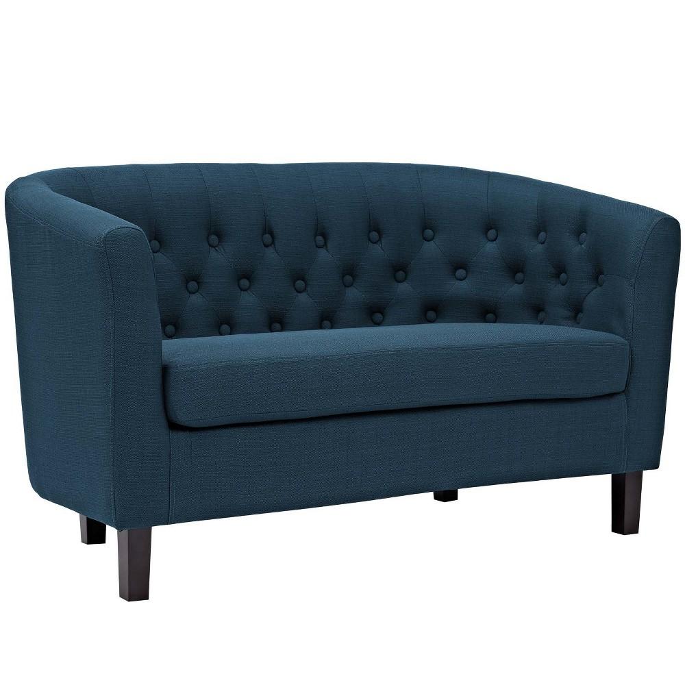 Prospect Upholstered Fabric Loveseat Azure (Blue) - Modway
