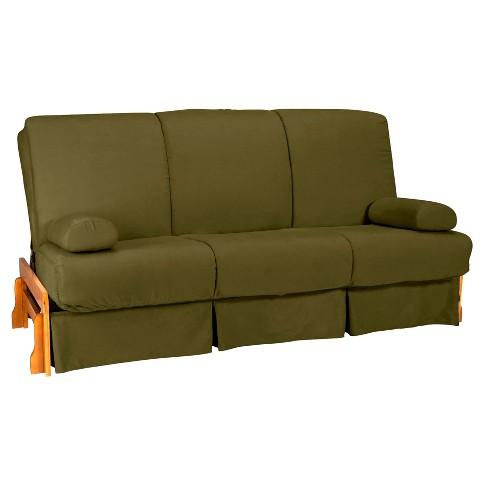 Low Arm Perfect Futon Sofa Sleeper Natural Wood Finish Sit N Sleep