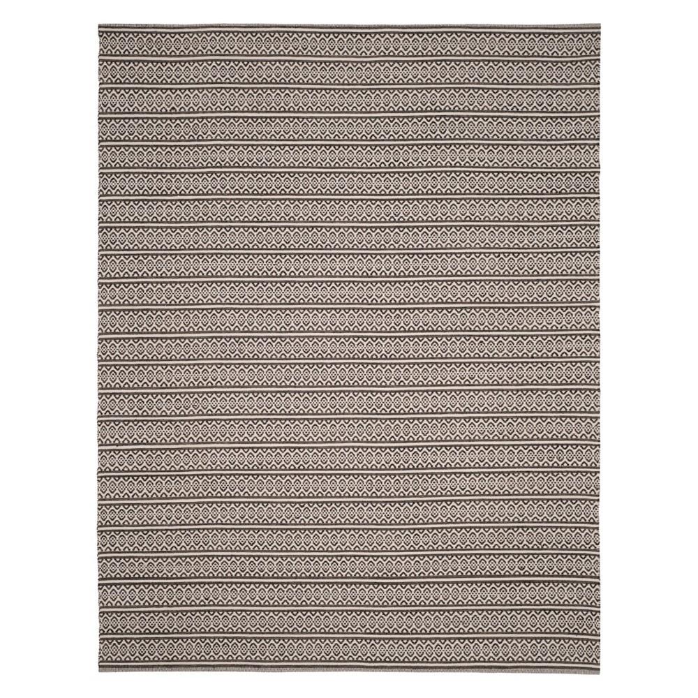 10'X14' Geometric Woven Area Rug Ivory/Black - Safavieh