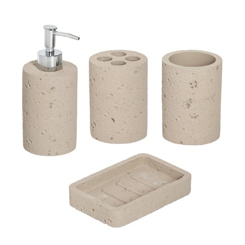 Honey-Can-Do Cement Bath Accessory Set - image 1 of 3