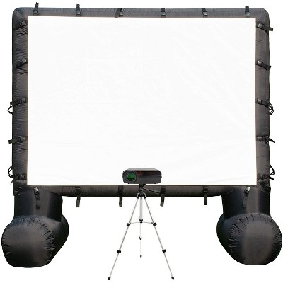 Total Homefx Pro Weather-Resistant Inflatable Theatre Kit With Outdoor Projector, Projection Screen, And Projector Stand