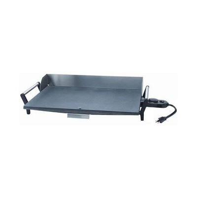 BroilKing PCG-10 Nonstick 21 x 12 Inch Professional Countertop Griddle for Chicken, Burgers, Sandwiches, and More with Handles, Gray